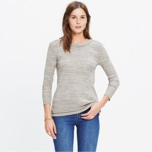 MADEWELL Thermal Side ButtonS 3/4 Sleeve Top S